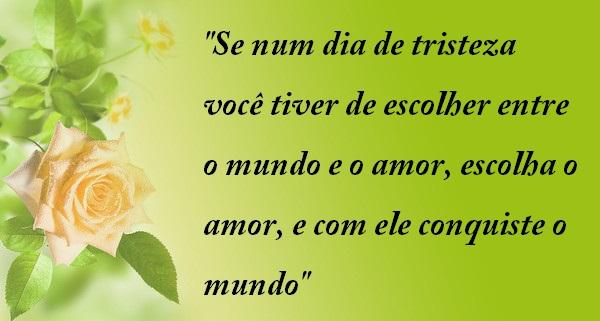 """A Cada Dia Que Nasce O Meu Amor Por Você Fica Mais Forte: Belas Frases De Amor: """"Se Num Dia De Tristeza Você Tiver"""