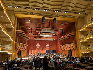 Interior of David Geffen Hall, Lincoln Center, New York, New York
