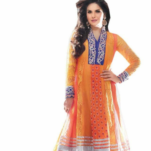 zarine khan , ana rk ali ,suit on-line shopping , ana rk ali , suit , z ohr a ,, Zarine Khan Hot Pics From Indian Clothing Catalogue