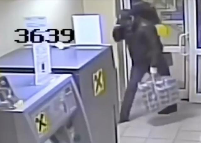 Video: Ladrón explota un cajero automático con dinamita