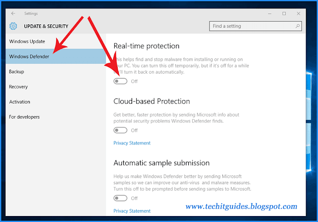 Use-Setting-to-Stop-Windows-Defender-Real-Time-protection