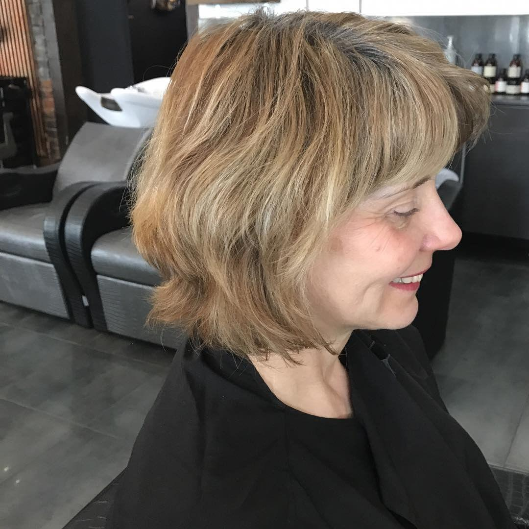 "The ""before"" shot of the hair transformation of Gail Hanlon, blogger from Is This Mutton?"