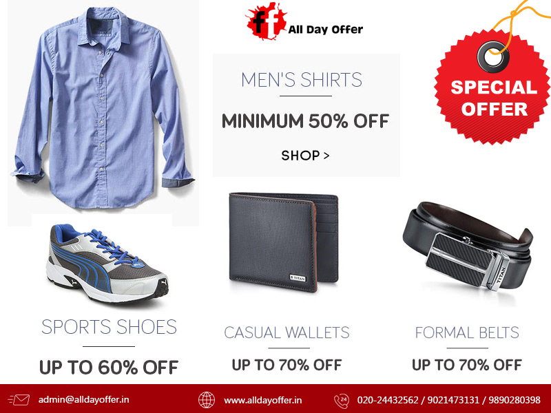 bcb365744 All Day Offer  Men s Foot wares   Clothing Offer India