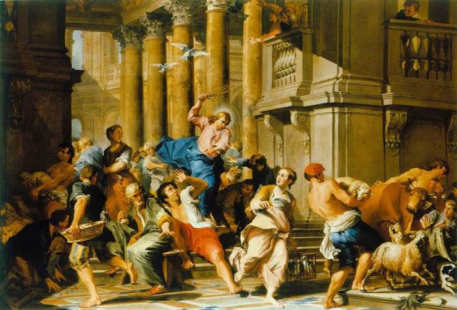 Resultado de imagem para jesus no templo profanado