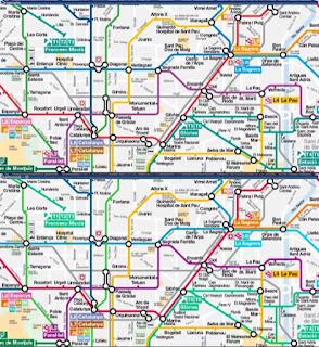 Le métro de Barcelone inamical aux daltoniens