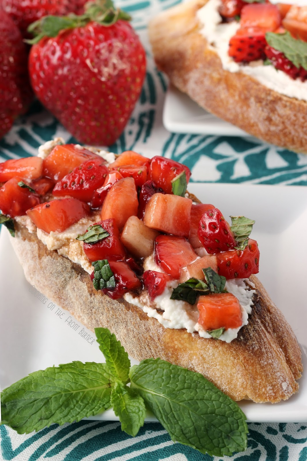 Strawberry Bruschetta | Cooking on the Front Burner #strawberries #appetizer