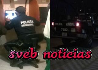Policia cibernetico deja su patrulla y se va a chatear en Celaya Guanajuato