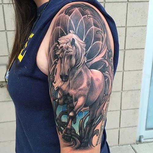 kadın omuz dövmeleri woman shoulder tattoos 17