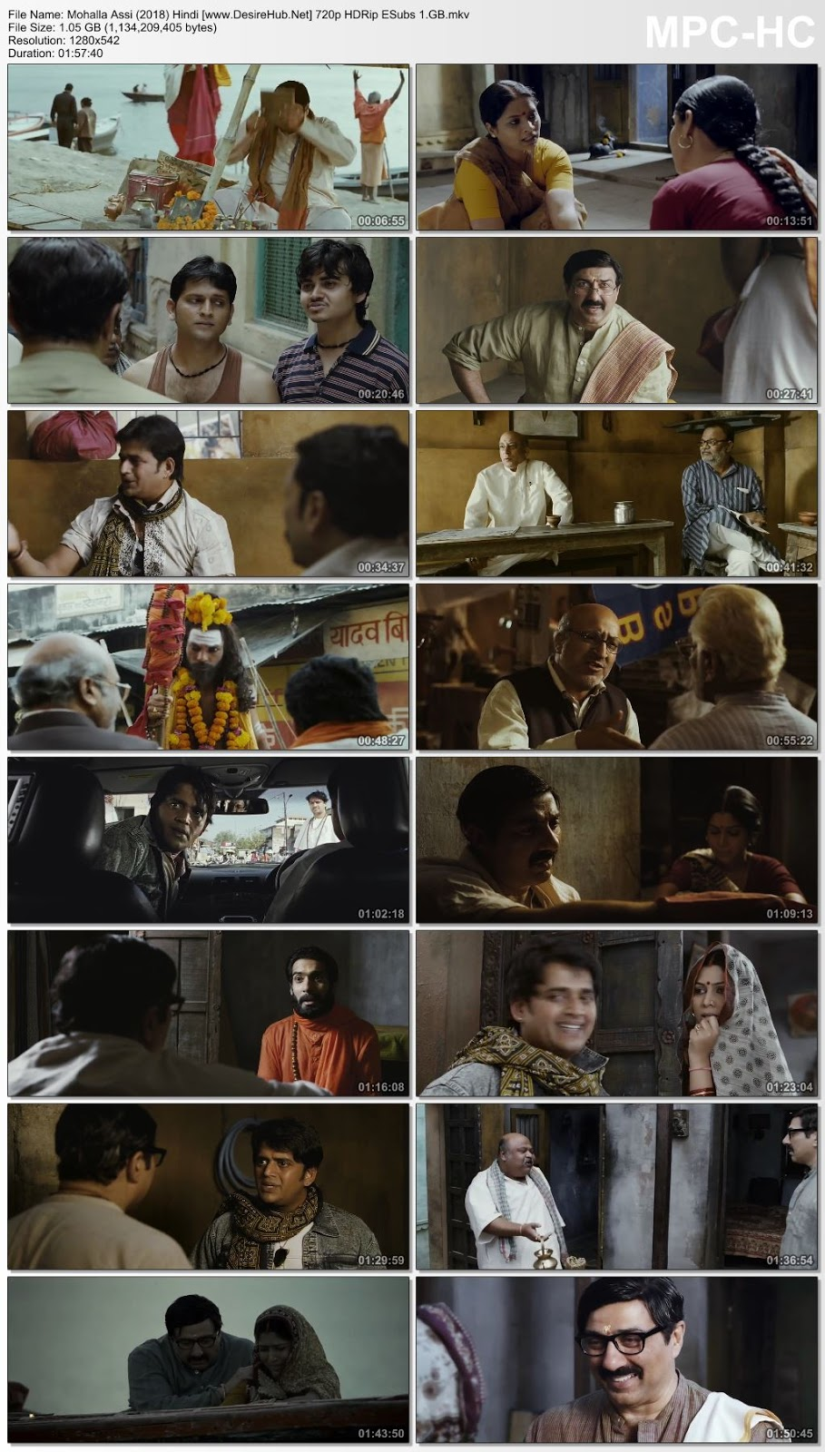Mohalla Assi (2018) Hindi 480p WEB-DL 300MB Desirehub