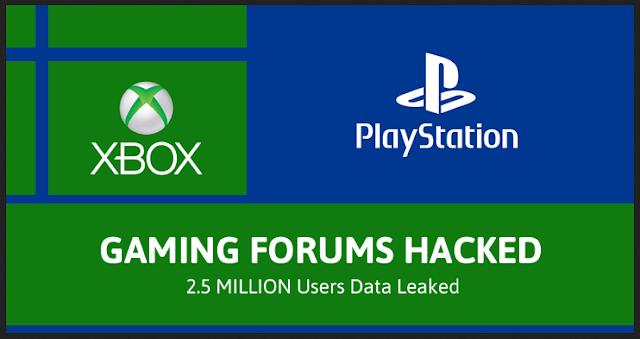 PlayStation Dan Xbox Gaming Forum Di Hack, 2,5 Juta Akun Gamer Bocor.