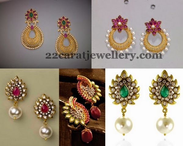 Simple Drops Earrings Floral Design Jewellery Designs