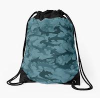 """рюкзак-мешок с принтом """"акулы молоты"""""""