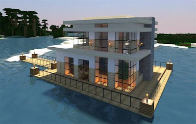 Minecraft-House-Designs-Modern-House-on-Water
