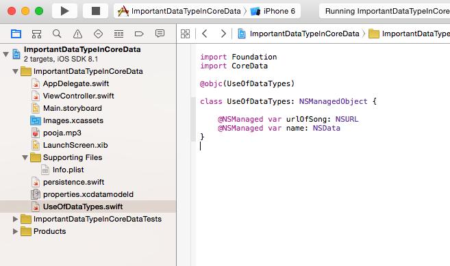 Swift World: Transformable && Binary Data Properties in Core Data