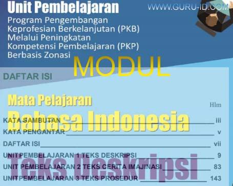 gambar modul pkp bahasa indonesia SMP