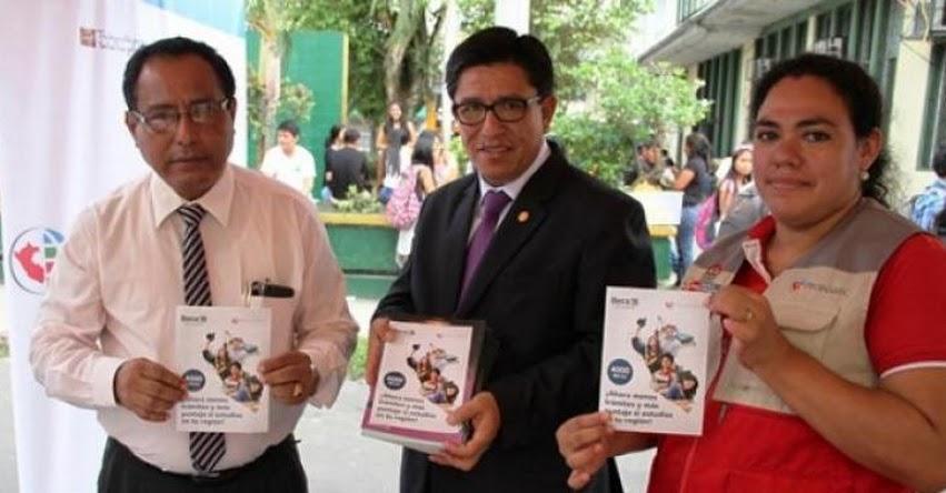 Especialistas del PRONABEC realizan la difusión de beca 18 en feria de responsabilidad social - www.pronabec.gob.pe