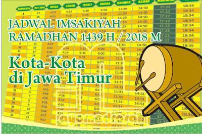 Jadwal Imsakiyah 1439 Kota Jatim