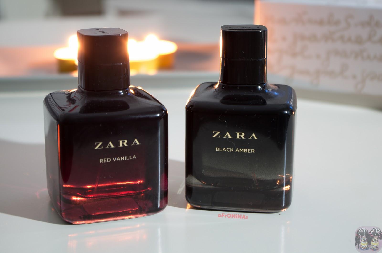 zara red vanilla black amber vainilla perfume