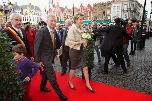King Philippe and Queen Mathilde of Belgium visited Bruges.