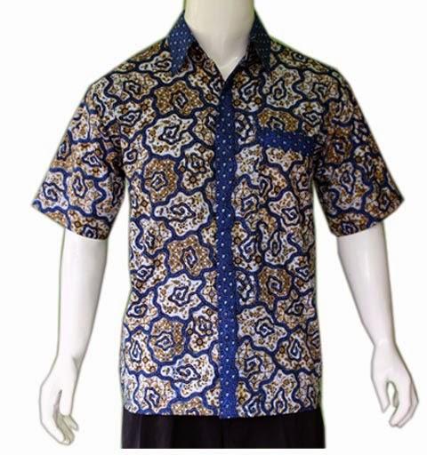 Contoh Baju Batik Guru: Contoh Foto Gambar Model Baju Batik Pria Gemuk Big Size