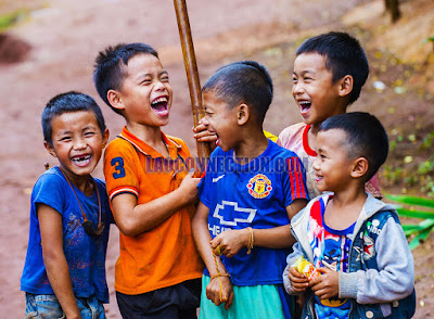 Lao children's fun and laughter