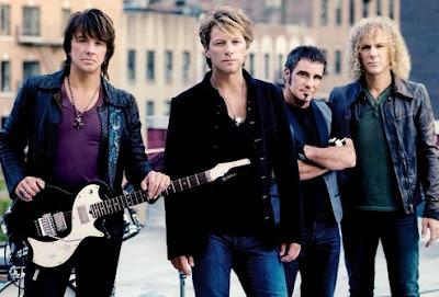 Foto de Bon Jovi posando para fans