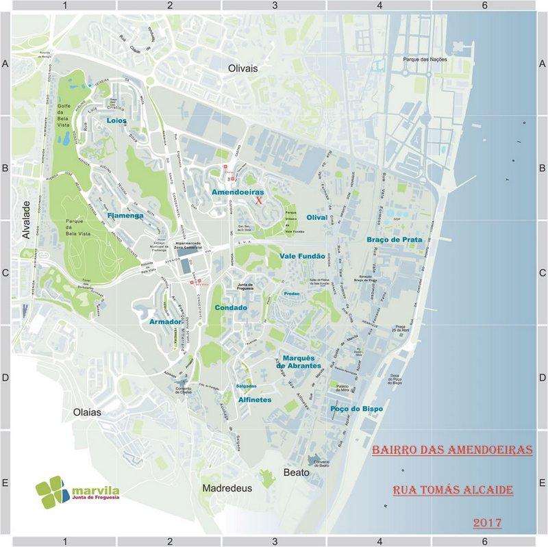 mapa chelas RUAS DE LISBOA ALGUMA HISTÓRIA: RUA TOMÁS ALCAIDE [ I ] mapa chelas