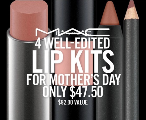 MAC Cosmetics Mother's Day 4 Lip Kits Deal