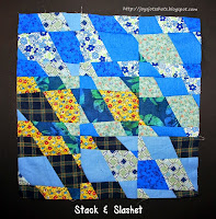 http://joysjotsshots.blogspot.com/2014/08/quilt-shot-block-25-stack-slashet.html
