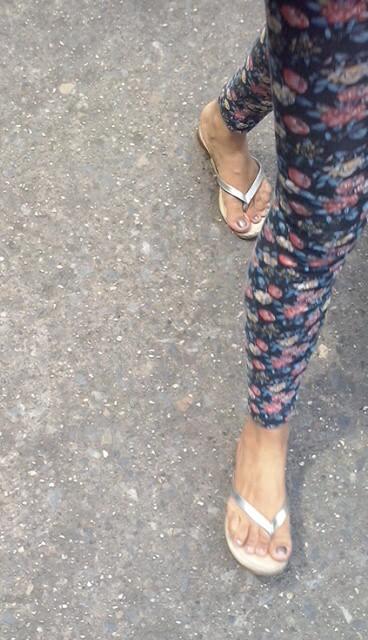 Feet i silver sandals mules heels pies sexys en tacones - 3 4