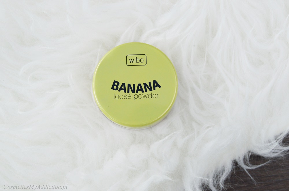 wibo, banana loose powder, puder matujący