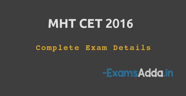 MHT CET Medical / Enginerring 2016