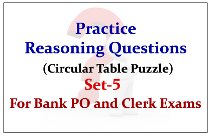 Practice Reasoning Questions (Circular Table Puzzle)