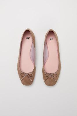 H&M NUDE BALLET FLATS