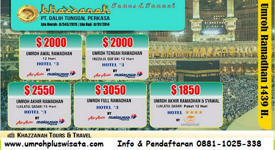 Paket Umroh Ramadhan Khazzanah Tour & Travel