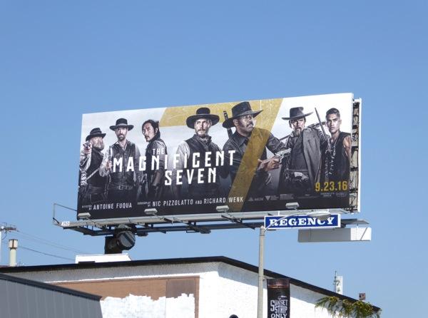 Magnificent Seven movie billboard