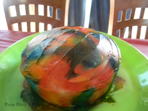 Rainbow Tie Dye Cake, Wilton Spray Mist, Rainbow Party Cake