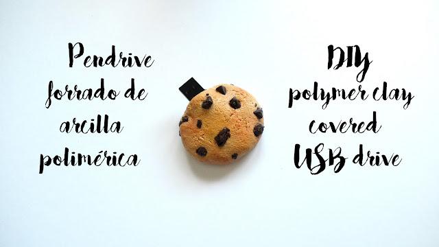 pendrive arcilla polimérica cookie