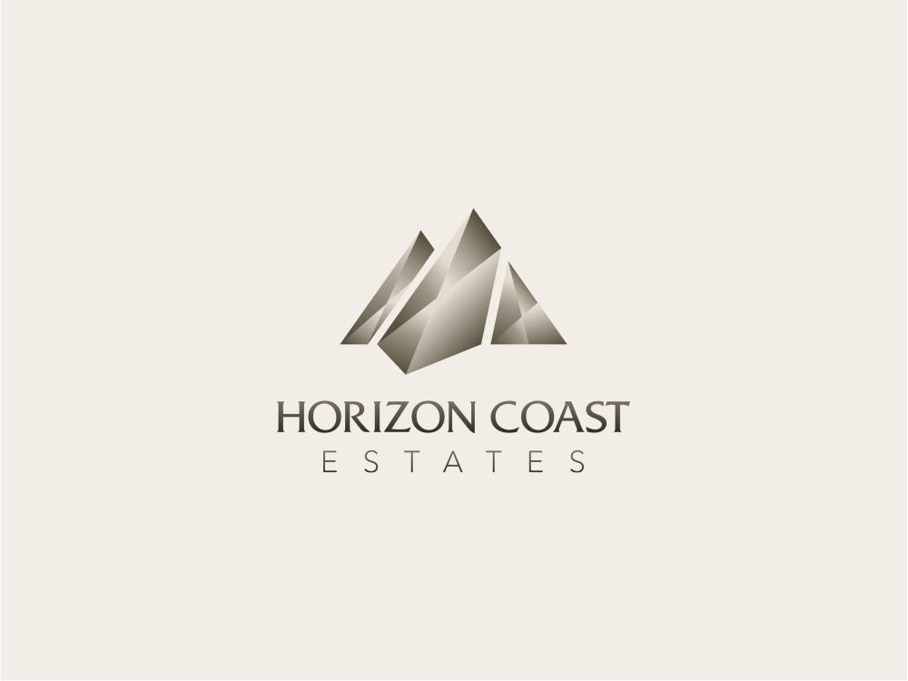 Logo Branding Identity Design Horizon Coast Estates