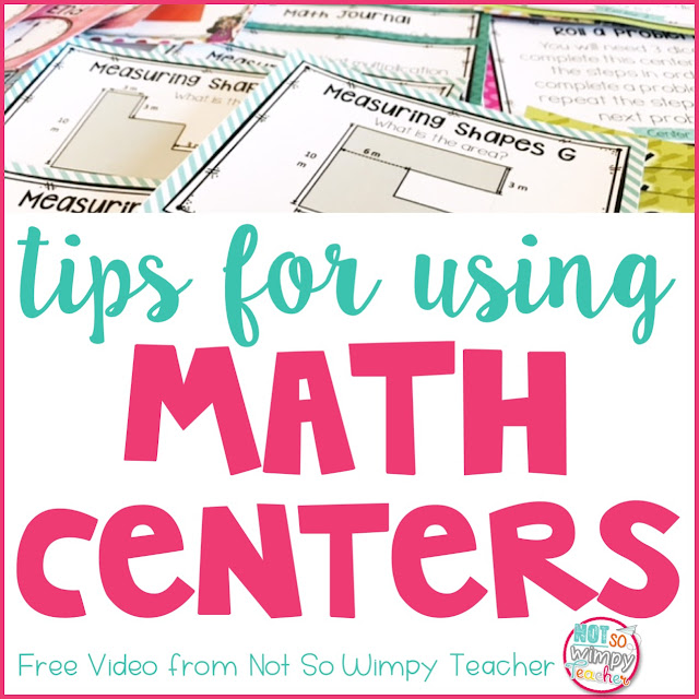 tips for using math centers video