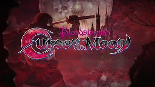 Bloodstained: Curse of the Moon Logo Wallpaper
