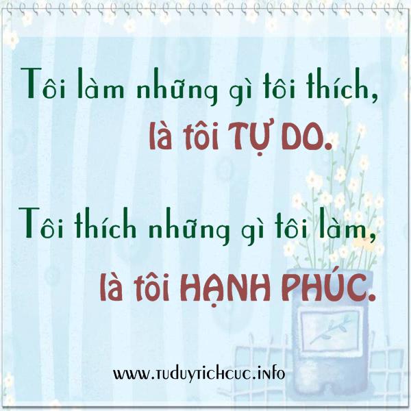 thich dieu mình lam la hanh phuc