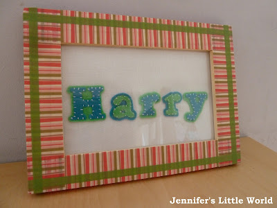 Washi tape frame simple craft