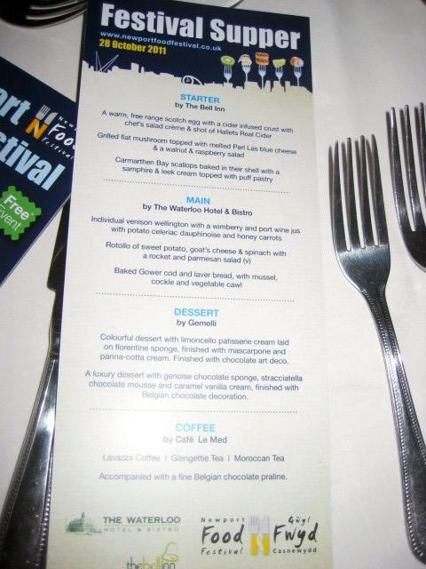 Newport Food Festival Supper