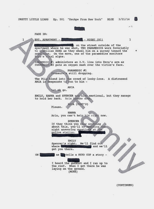 Pretty Little Liars Theories: ABC release script from the