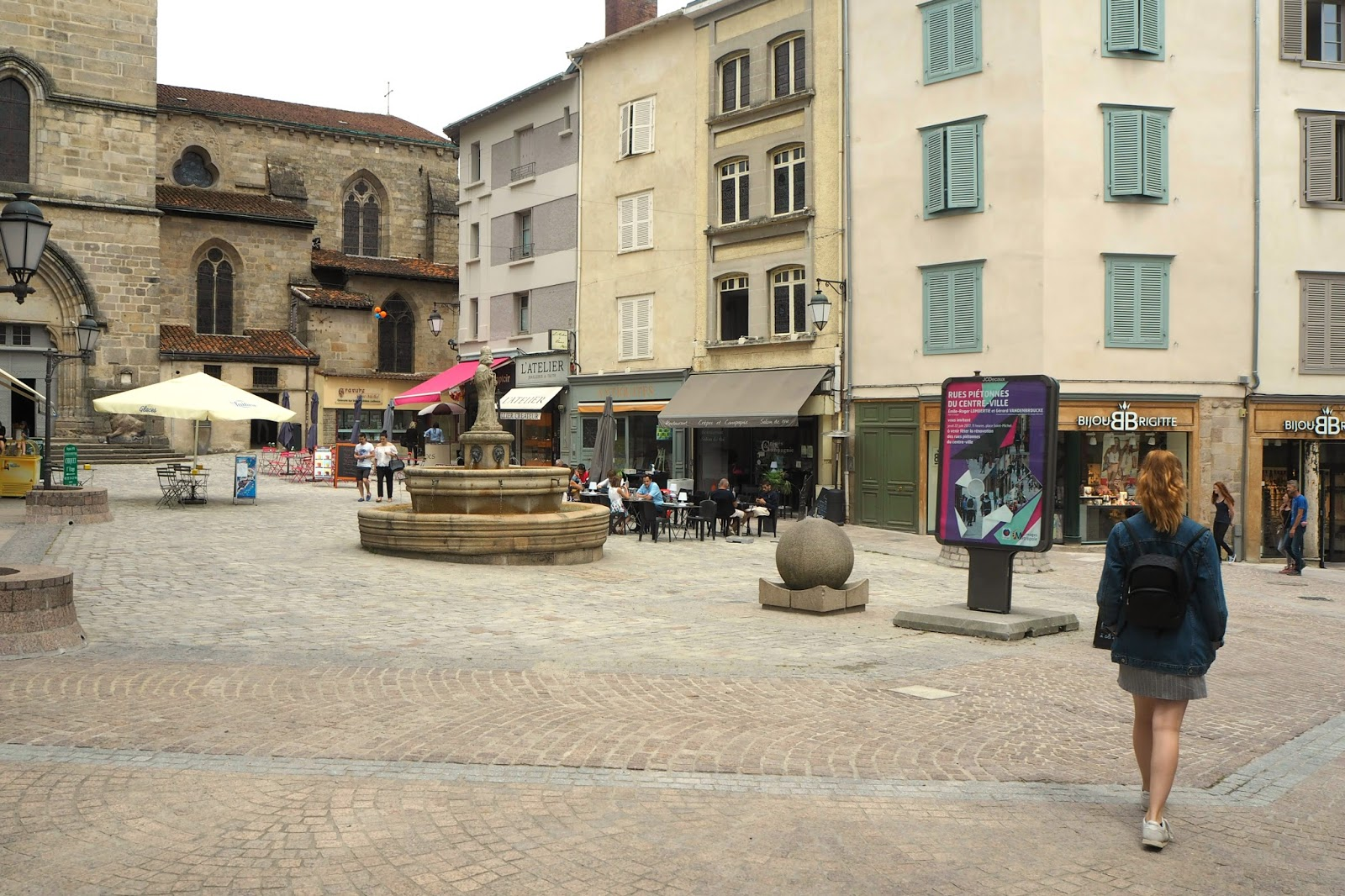 Church square in Limoges