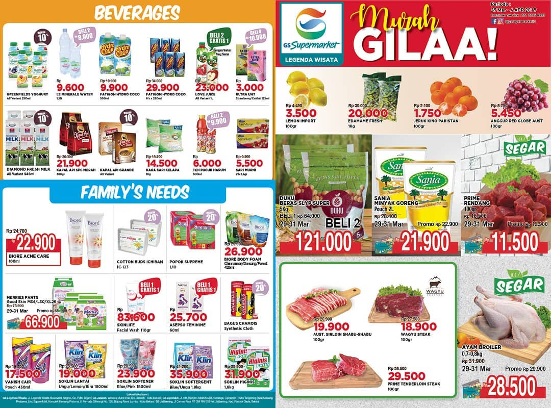 #GSSupermarket - #Promo #Katalog Weekend Periode 29 - 04 April 2019