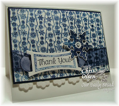 ODBD Products - Small Snowflake Background, Sparkling Snowflakes, ODBD Custom Snowflakes Die, Mini Tags 2