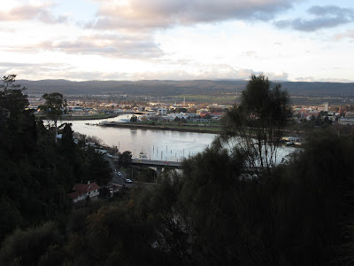 Vistas de Launceston, Tasmania, desde la Cataract Gorge