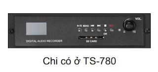 Chức năng chính của hệ thống âm thanh hội thảo TS-780